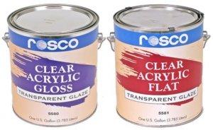 Rosco - Acrylic Glazes - Flat and Gloss Clear Coats