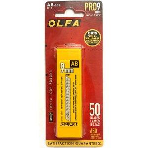OLFA - 9mm Silver Blades (AB-50B) - 50 Pack