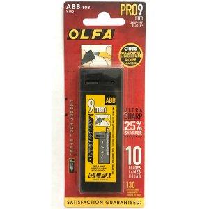 OLFA - 9mm Black Ultra-Sharp Blades (ABB-10B) - 10 Pack