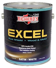 Richard's - EXCEL 100% Acrylic DTM - Satin White