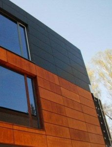 Rusted Finish on exterior building facade in Poland