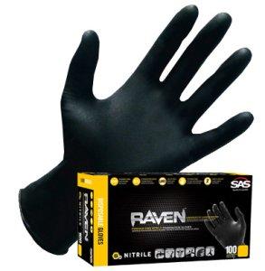 SAS - Raven Nitrile Gloves (Powder-Free)