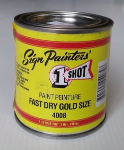 One Shot - Fast Dry Gold Size - 1/2 Pint
